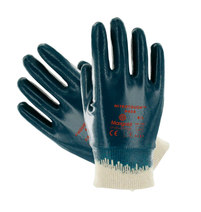 Ansell Nitrotough N650 Fully Dip Coating Nitrile Work Glove, Size - 9