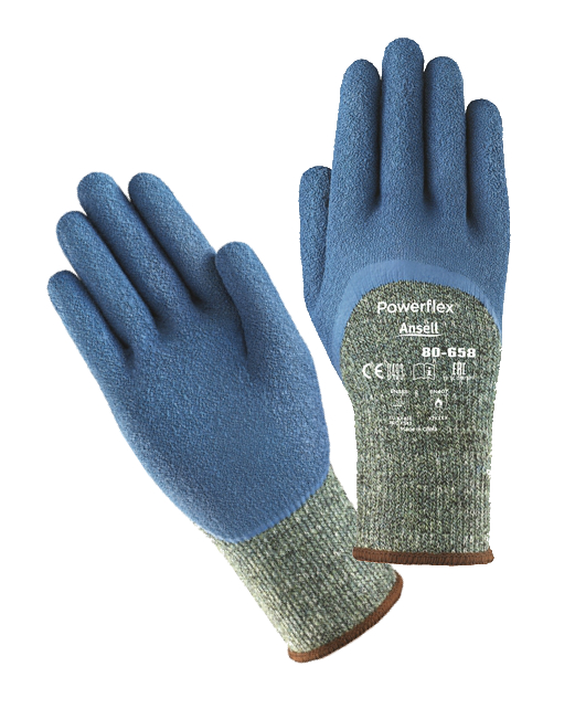 Ansell Powerflex 80-658 Latex Coated Heat & Cut Resistant Work Glove