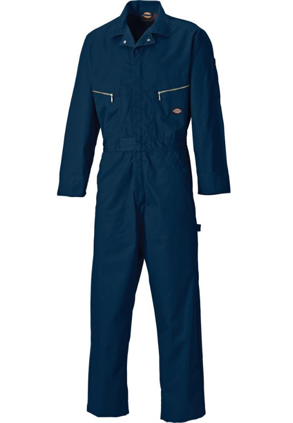 "Dickies Deluxe Hammer Loop WD4879 Polycotton Coverall,Size - 40"" Long Navy"