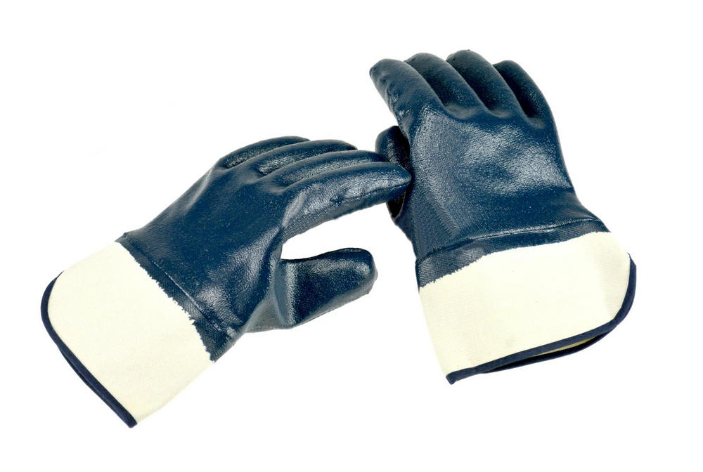 Arvello N693 Nitrile Fully Dipped Open Cuffs Heavy Duty Work Gloves