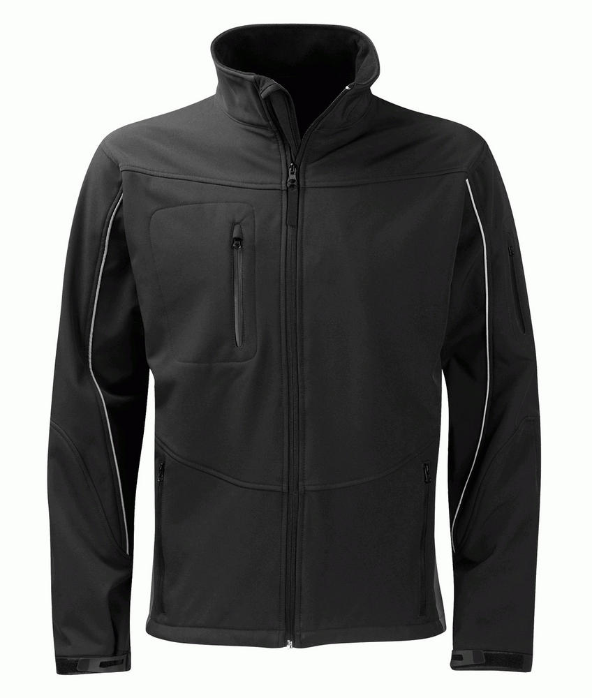 Orbit International SS3G3 Granite Men Soft Shell Jacket Full Zip Black