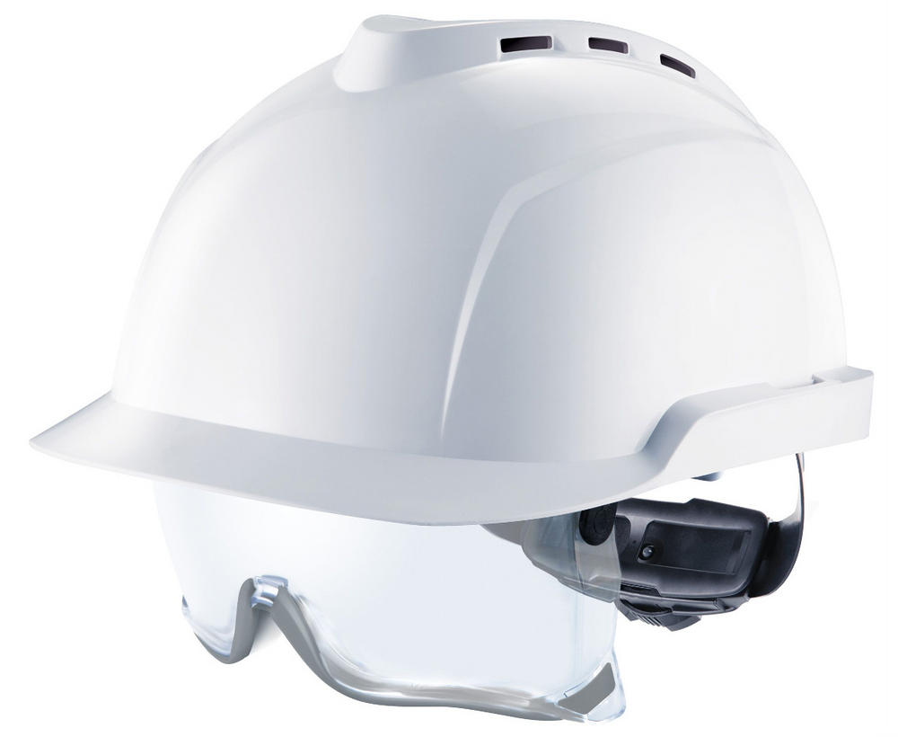 MSA V-Gard 930 Fas-Trac Integrated Over Spectacles Vented Protective Helmet