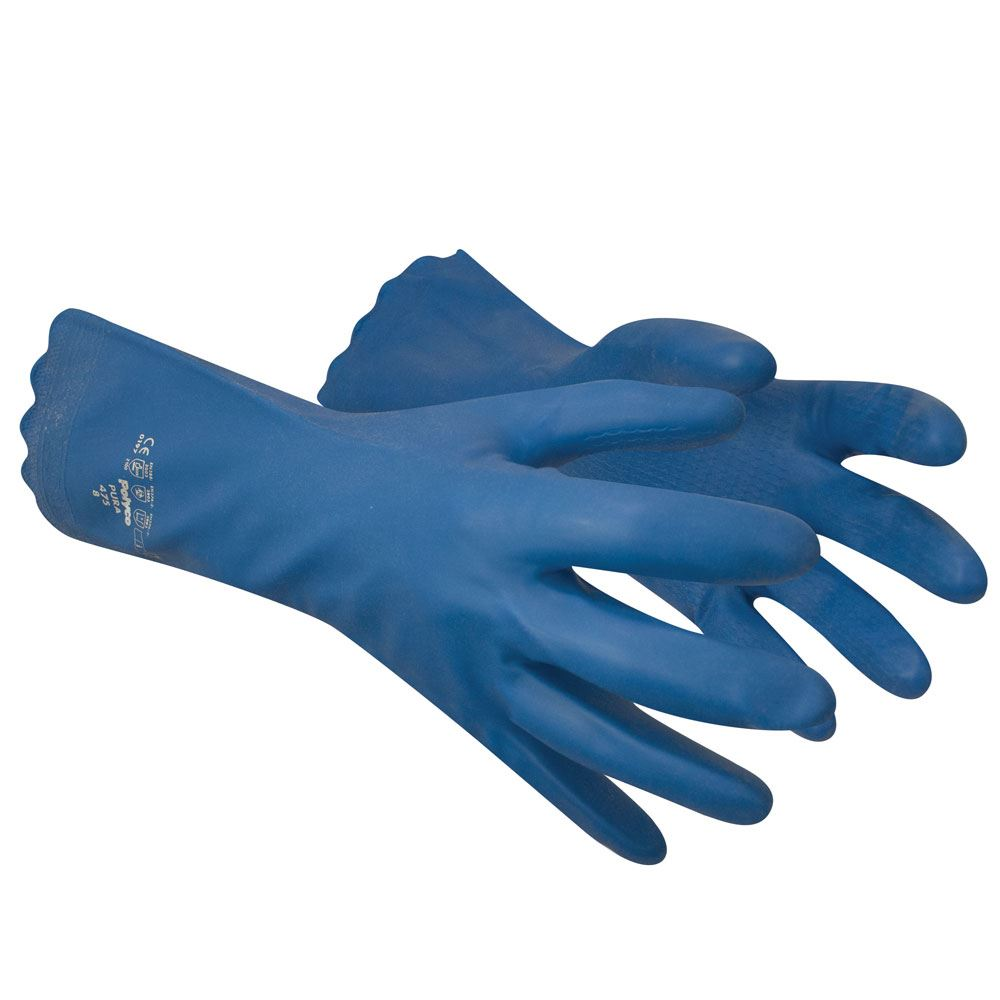 Polyco Pura Blue Latex Free PVC Janitorial Glove Medium Weight