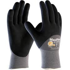 ATG Maxiflex 34-875 Ultimate Men Work Gloves Micro Foam 3/4 Nitrile Coating Size 10