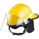 Bullard FXE Fire Helmet With Visor And Neck Curtain Firefighter's Hard Hat Yellow