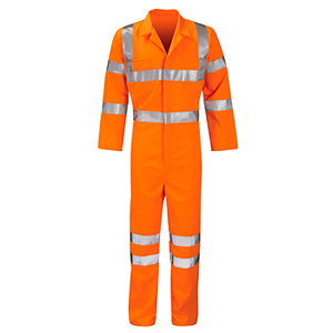 Arvello Hercules Pcrtbs Polycotton Hi Vis Orange Coverall