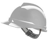 MSA V-Gard 500 Safety Helmet Non-Vented Hard Hat Staz-On Rain Gutter White