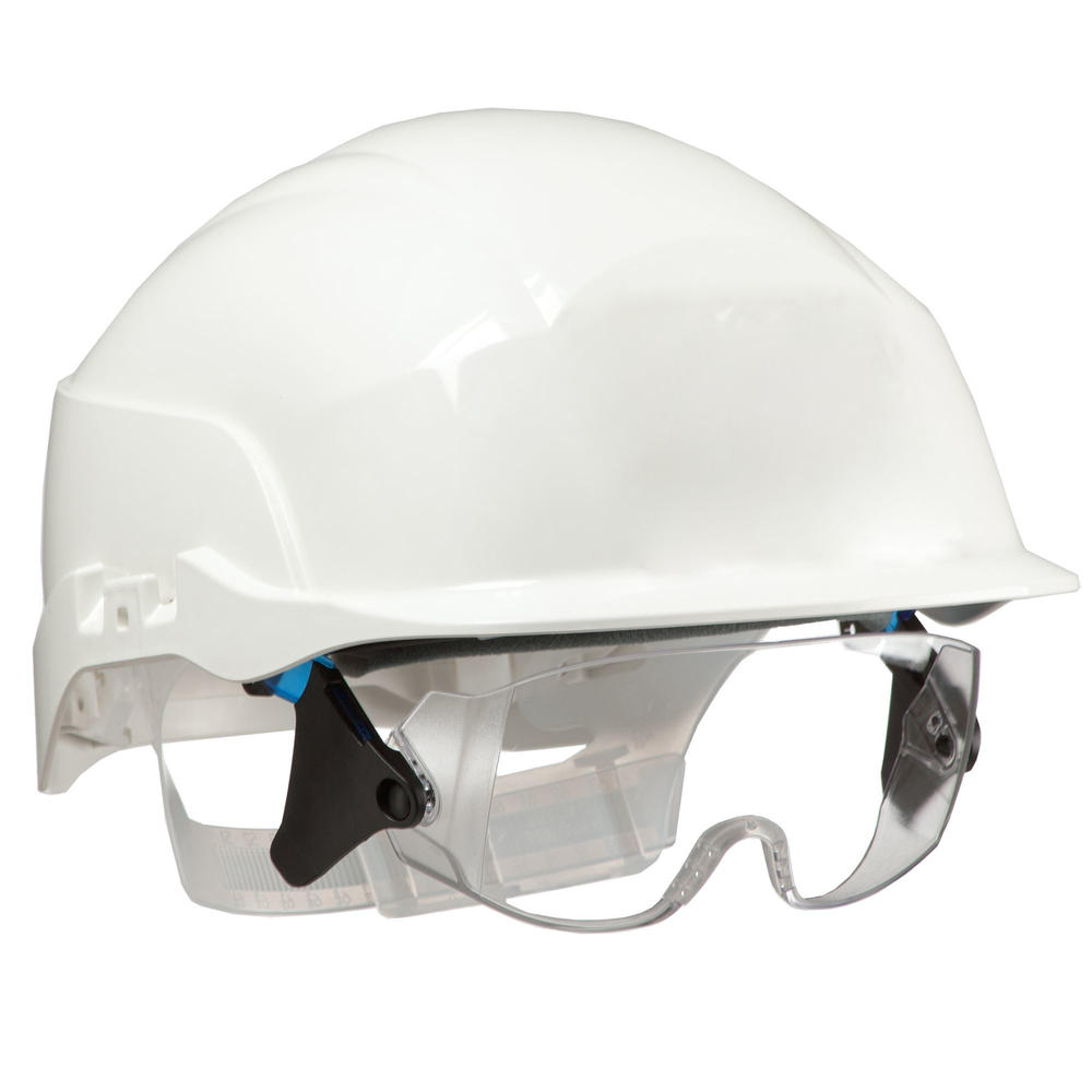 Centurion S20 Vision Safety Helmet with Retractable Visor White