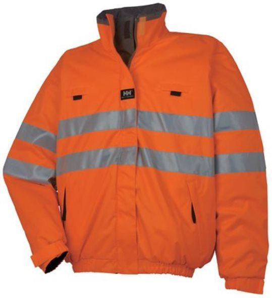 Helly Hansen Motala Reversible Jacket 73256 HI Vis Orange, SIze - Large