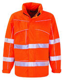 Dickies SA22100 High Visibility Flame Retardant Hooded Orange Work FR Jacket, Size - Medium