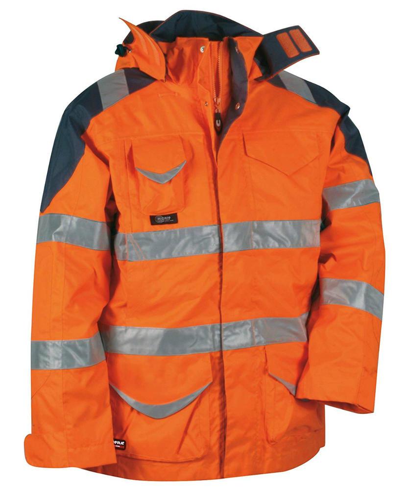 Cofra Protection Men Hi Vis Jacket Waterproof 4 in 1 Parka Orange V024-0-01