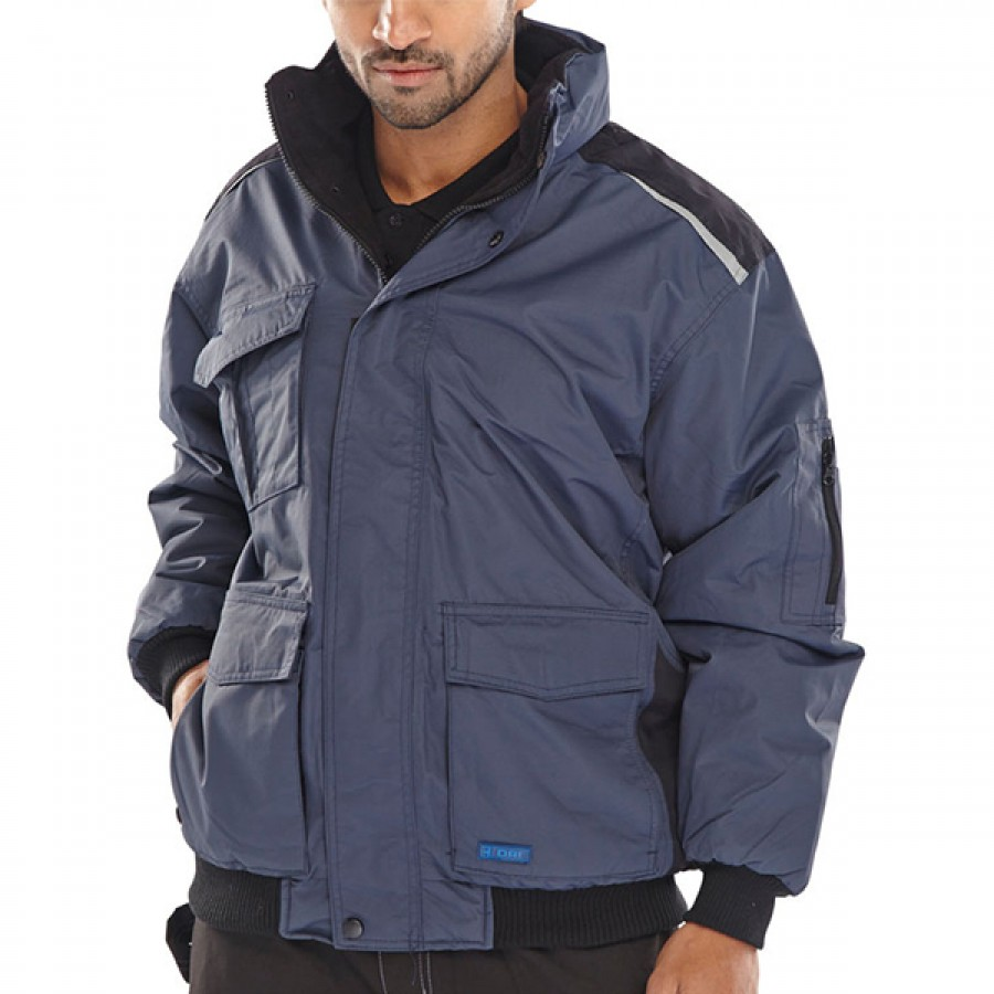 Beeswift PRJNBL Pioneer Waterproof Navy Bomber Jacket, Size - XL