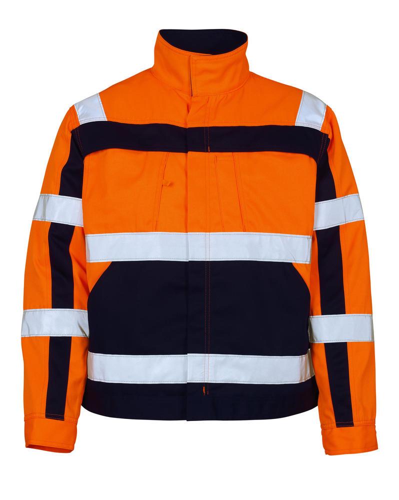 Mascot 07109-860 Cameta Hi Vis Two-toned Work Jacket Orange/Navy, Size - Large