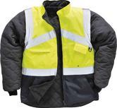 Portwest S769 Hi Vis Two-Tone Reversible Rain Jacket Work Bodywarmer Size L