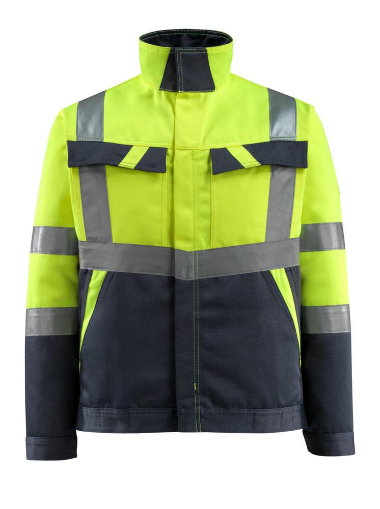 Mascot 15909-948 Foster Men Hi Vis Jacket Polycotton Dual Tone Coat, Size - Large