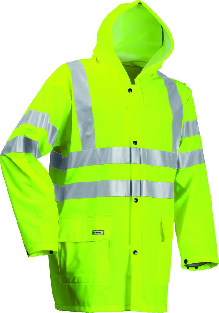 Lyngsoe LR55 Waterproof Coat High-Visibility Rain Jacket, Size - XS