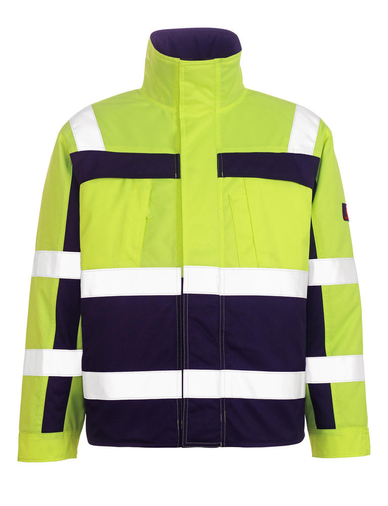 Mascot 7123-126 Timon Men Hi Vis Pilot Jacket Yellow/Navy Quilted Lining, Size - Large