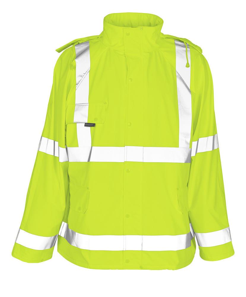 Mascot 50101-814 Feldbach Hi Vis Waterproof Yellow Rain Jacket, Size - XL
