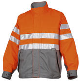 Projob 6401 Men Pilot Style Polycotton Orange Hi Vis Jacket, Size - Large