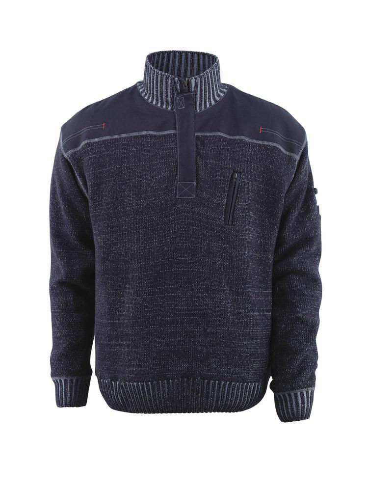 Mascot 50354-835 Naxos Men Knitted Jumper Blue/Grey, Size - Small
