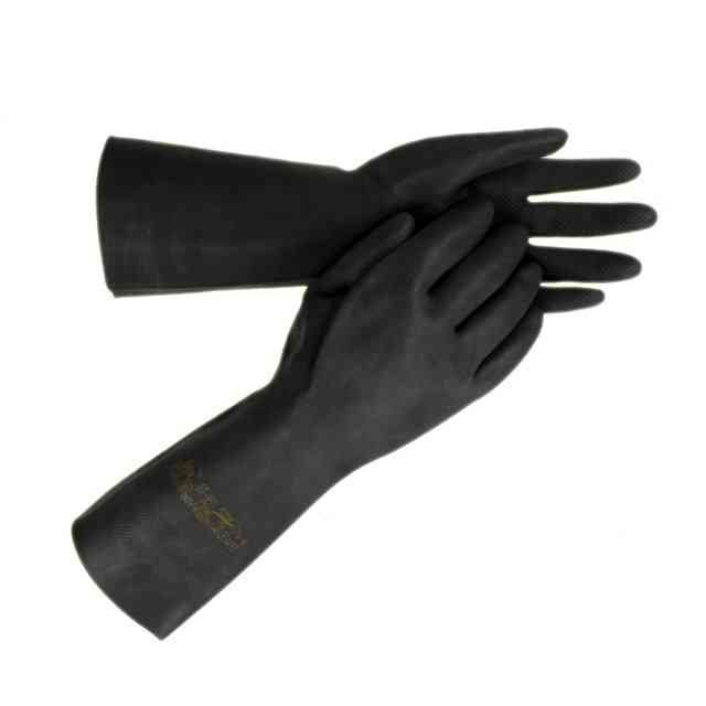 Ansell 87-950 Extra Latex Gauntlets Chemical Resistant Extra Heavy Duty Black Gloves