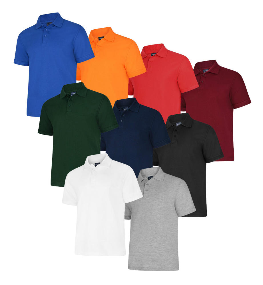 Uneek Essential 220gsm Short Sleeve PolycottonPolo Shirt UC108 - Various Colours