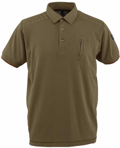 Mascot 50351-833 Kreta Men Polo Shirt with Chest Pocket Olive Green, Size - 2XL