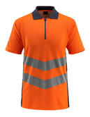 Mascot 50130 Murton Men Hi Vis Polo Shirt Orange-Navy, Size - 3XL