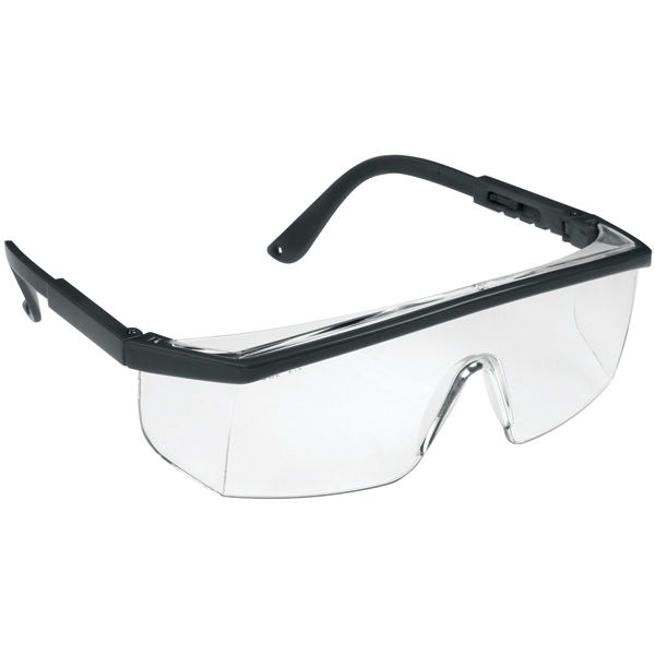 JSP M9100 Wraparound Safety Glasses Clear Lens Protective Spectacles