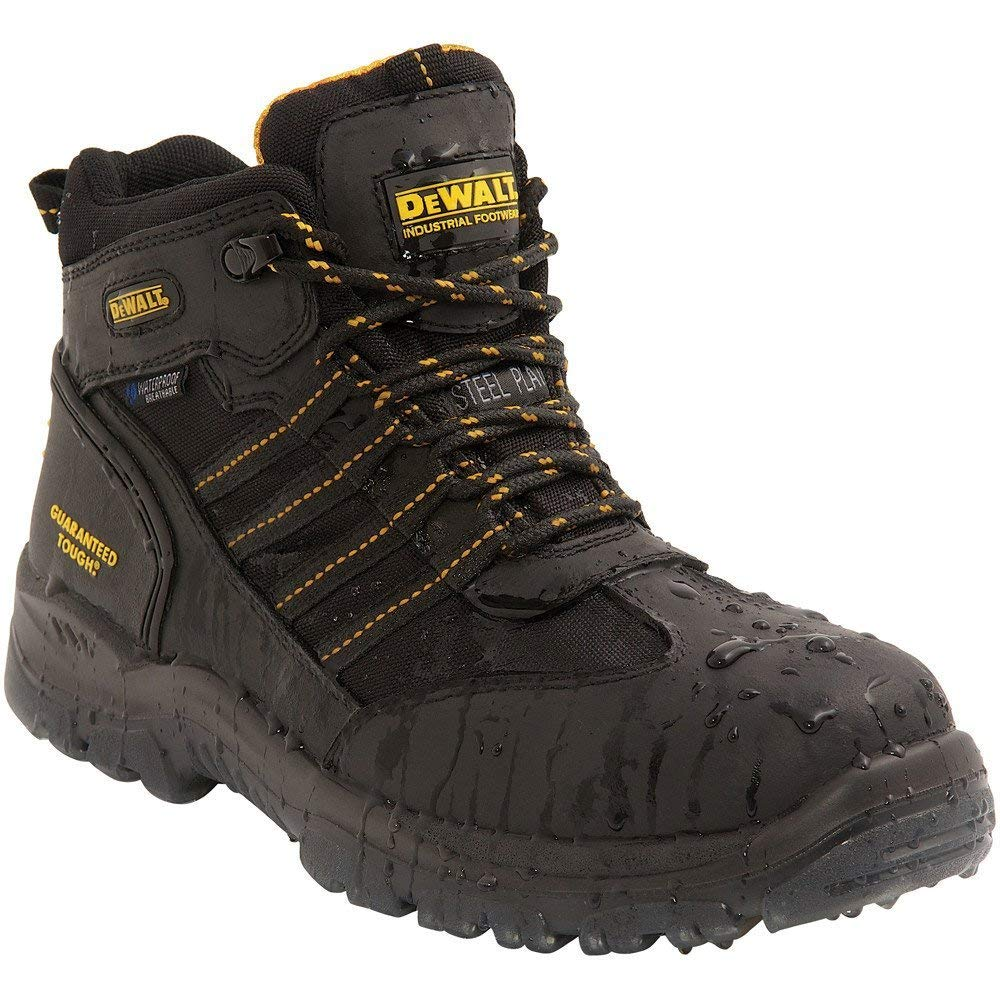 DEWALT Nickel Waterproof S3 WR SRA Steel ToeCap Black Safety Boots