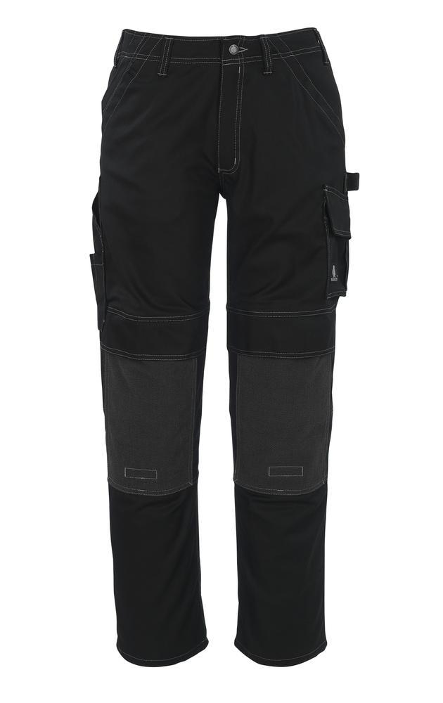 MASCOT Lerida Kevlar Kneepad Pockets High Durability Black Work Trousers 05079-010, Size - 46.5 Long