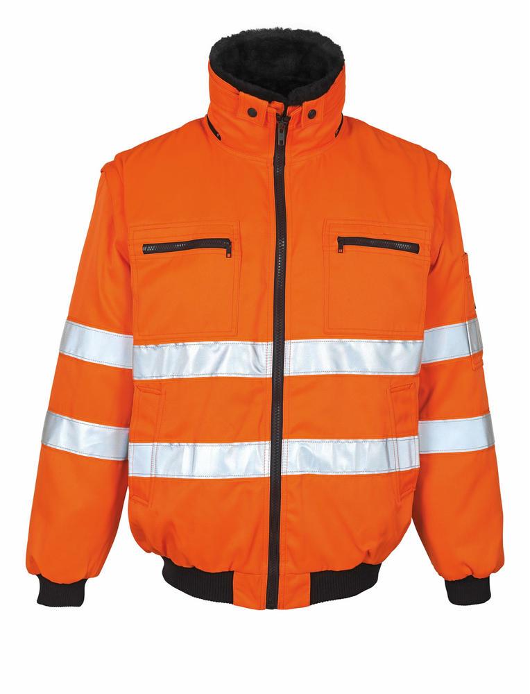 Mascot Innsbruck Water-repellent Orange Hi-Vis Pilot Jacket 00520-660-14