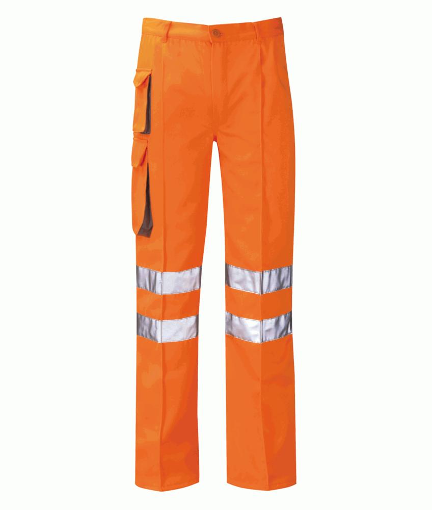Orbit International Men Hi Vis Work Cargo Trousers