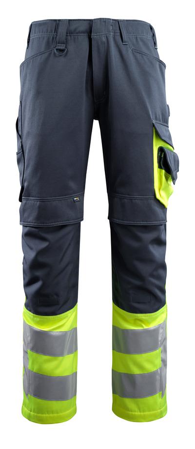 "Mascot 15679 Leeds Men Hi Vis Triple Stitched Fneepad Work Trousers, Size - 40"" Short"