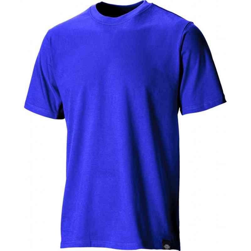 Dickies SH34225 Men T-Shirt Crewneck Cotton Royal Blue Size S