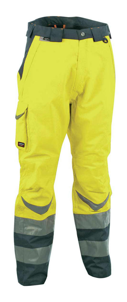 Cofra SAFE Hi-Vis Yellow Grey Thermal Insulated Lined Work Trousers V025-0-00