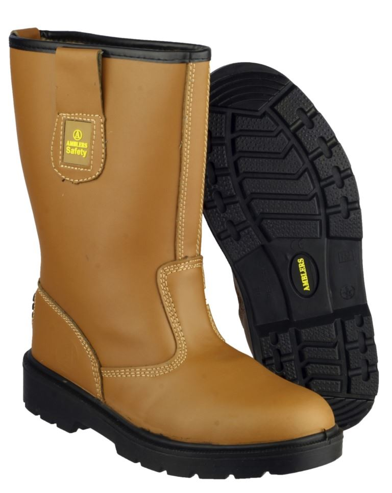 Amblers FS124 Pull On Warm Lined S3 SRC Safety Rigger Boots, Size - 14