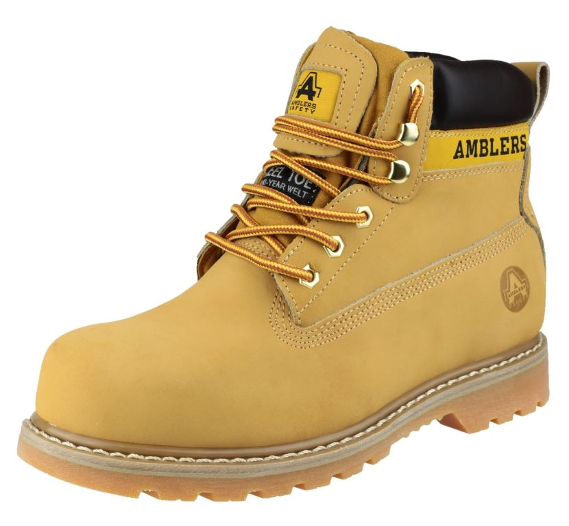 Amblers FS7 Unisex Safety Boots Steel Toe Cap Honey Nubuck Upper