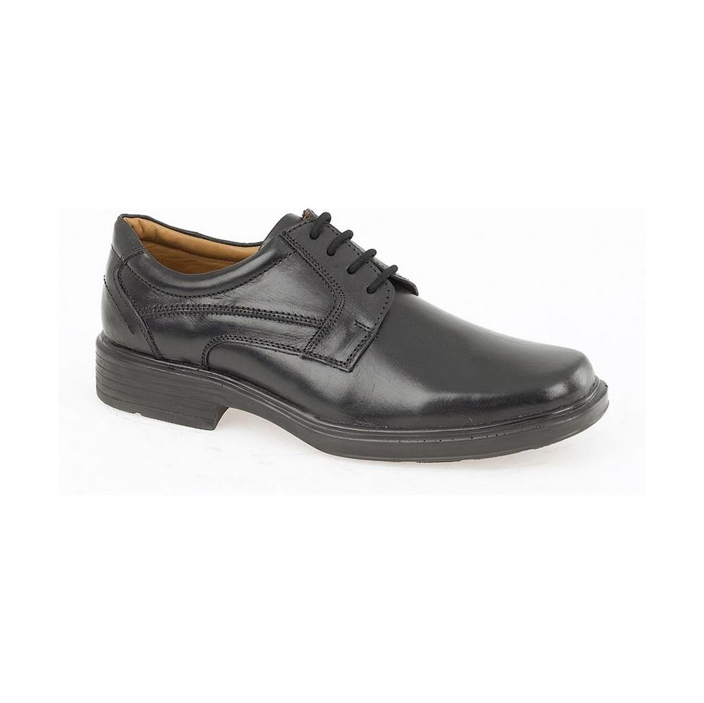 Arvello Robin Men Formal Gibson Shoes Black Leather - Non Safety