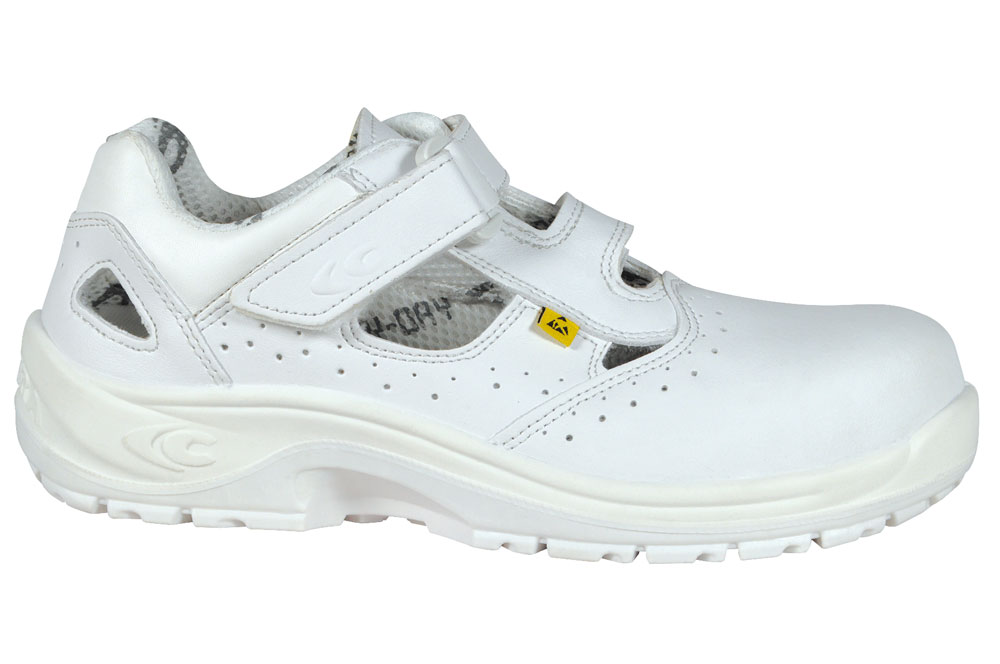 Cofra Servius Open 100% Metal Free S1 ESD SRC White Lorica Safety Shoes