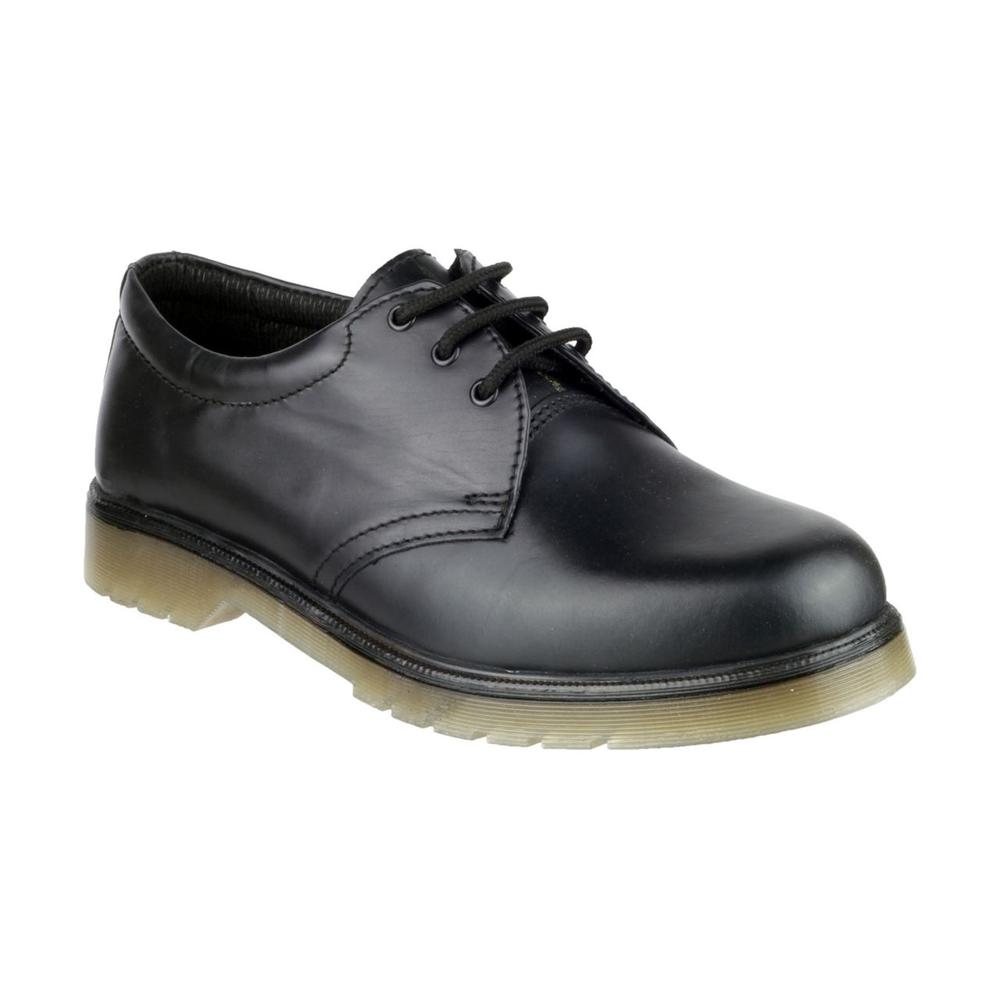 Amblers Aldershot Leather PVC Outsole Lace-Up Gibson Shoes