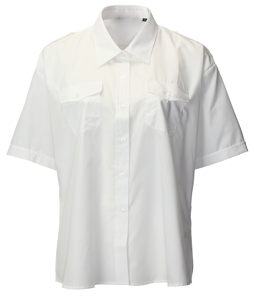 Arvello S128 Polycotton Uniforms Ladies Short Sleeve White Shirt