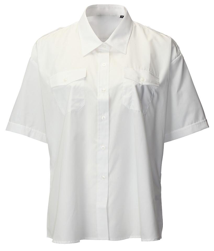 Arvello S128 Polycotton Uniforms Ladies Short Sleeve White Shirt