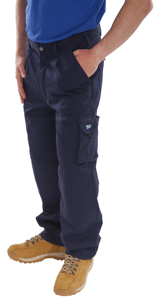 Beeswift Newark Work Trousers Knee-pad Cargo Pants Navy