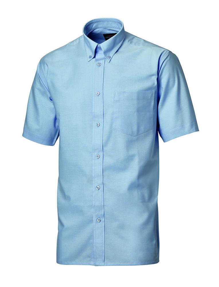Dickies SH64250 Men Short Sleeve Blue Oxford Shirt