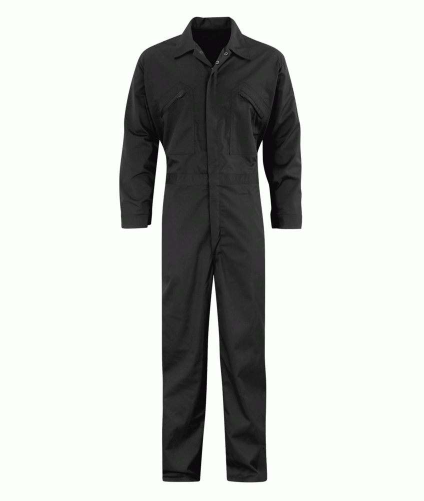 Orbit International PC245BS Men Coverall Front Zip Black