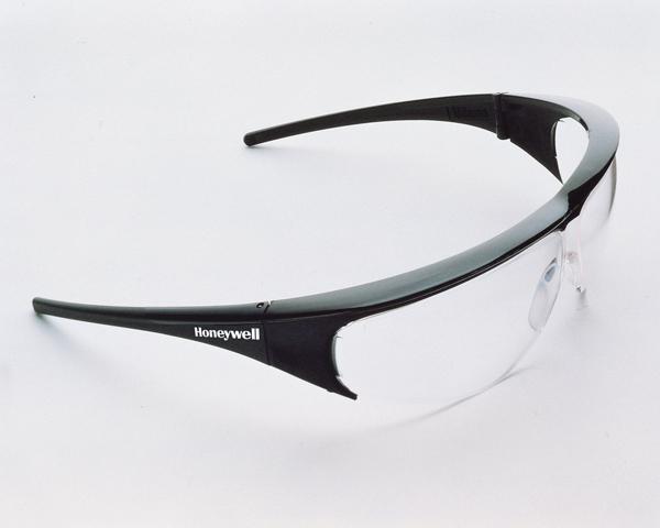Honeywell 1002781 Millennia Safety Glasses Black Frame Antifog Clear Lens