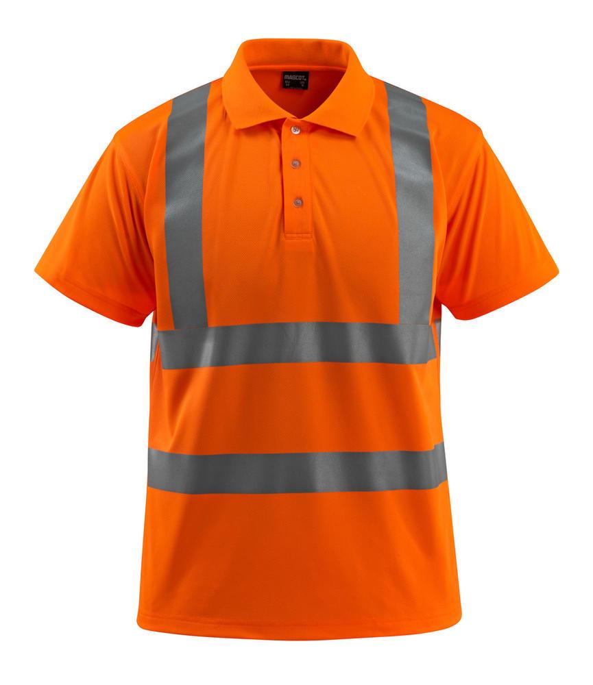 Mascot 50593 Bowen Short Sleeve Orange Hi Vis Polo Shirt