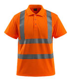 Mascot 50593 Bowen Short Sleeve Orange Hi Vis Polo Shirt