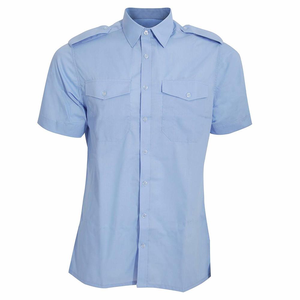 Orbit International PSSS Men Pilot Shirt Short Sleeve Blue